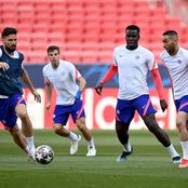 Chelsea players participate in final training for tonight's game (See photos)