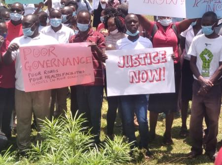 Happening Now: Protests in Homabay in Pictures