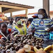 Législatives 2021: la photo de la ministre Desirée Ouloto au marché de Toulepleu fait le buzz