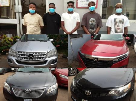 Ten Alleged Yahoo Boys Arrested In Ondo State, See The Expensive Cars Recovered From Them (Photos)