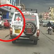Anonymous Writings Spotted Behind An Ambulance That Has Left Kenyans Talking