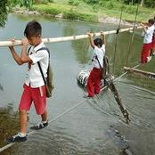 Sad: See What These Kids Go Through Just To Get To Their Schools