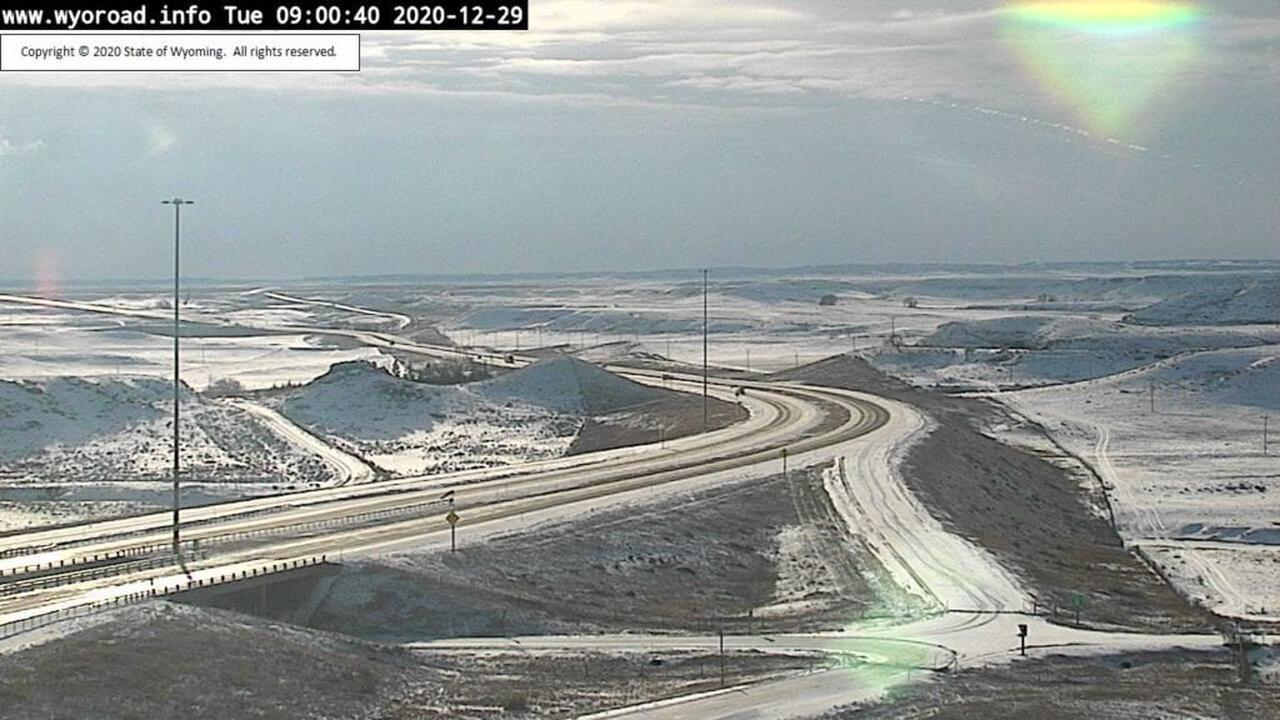 I-80 closed eastbound from Wyoming into Nebraska; 'no unnecessary travel' on some of I-25