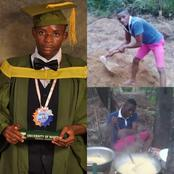 First Class Mathematics Graduate In Viral Farm Photo Bags PhD Scholarship In US