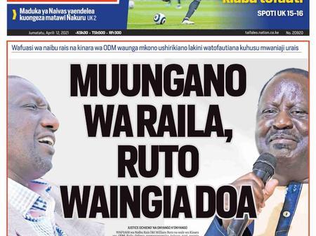 Mt.Kenya Tangatanga MP Welcomes Ruto-Raila Coalition As Murkomen Warns Uhuru Against Betraying Baba