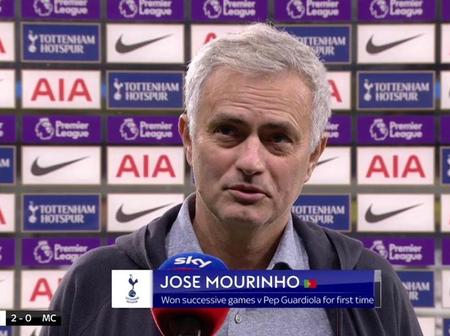 Mourinho explains the tactical approach he deployed to beat City.