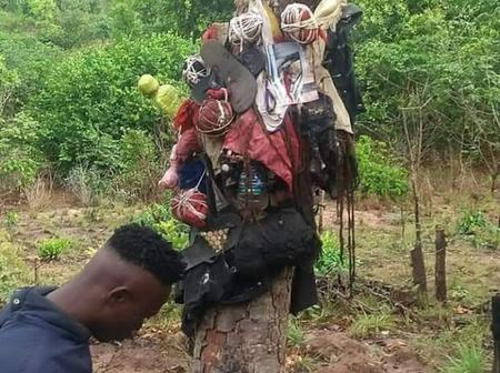 Supposed Evil Shrine With People's Clothing Items Discovered in Abia State