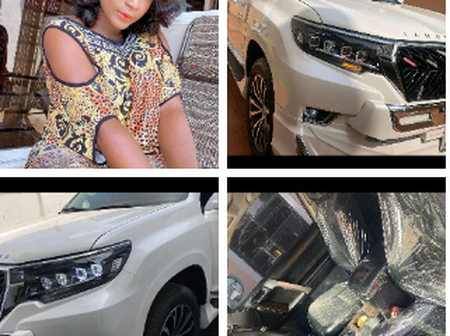 Actress Destiny Etiko Acquires New Car, See Photos