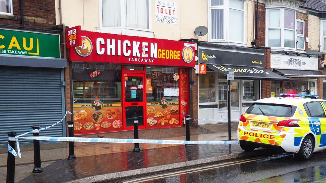 Police seal off pavement outside Newland Avenue takeaway