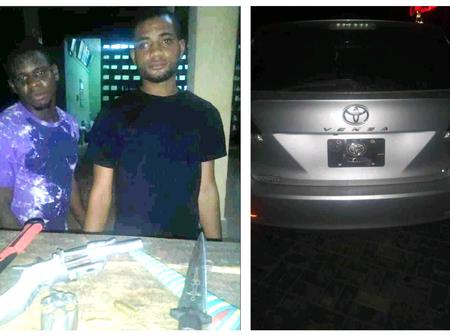 Anambra State Police Arrested 2 Suspected Armed Robbers; See What Was Recovered From Them(Photos)