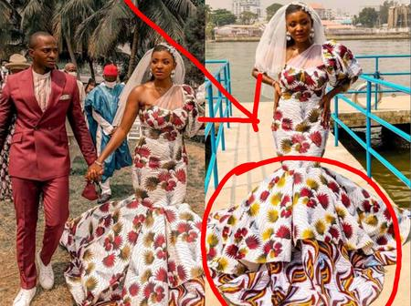 See The Dress This Bride Wore For Her White Wedding That Caused Reactions On Social Media (Photos)