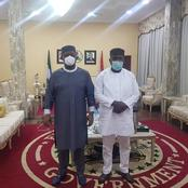 Femi Fani Kayode Pays Courtesy Visit To PDP Governor At His Residence (Photos)