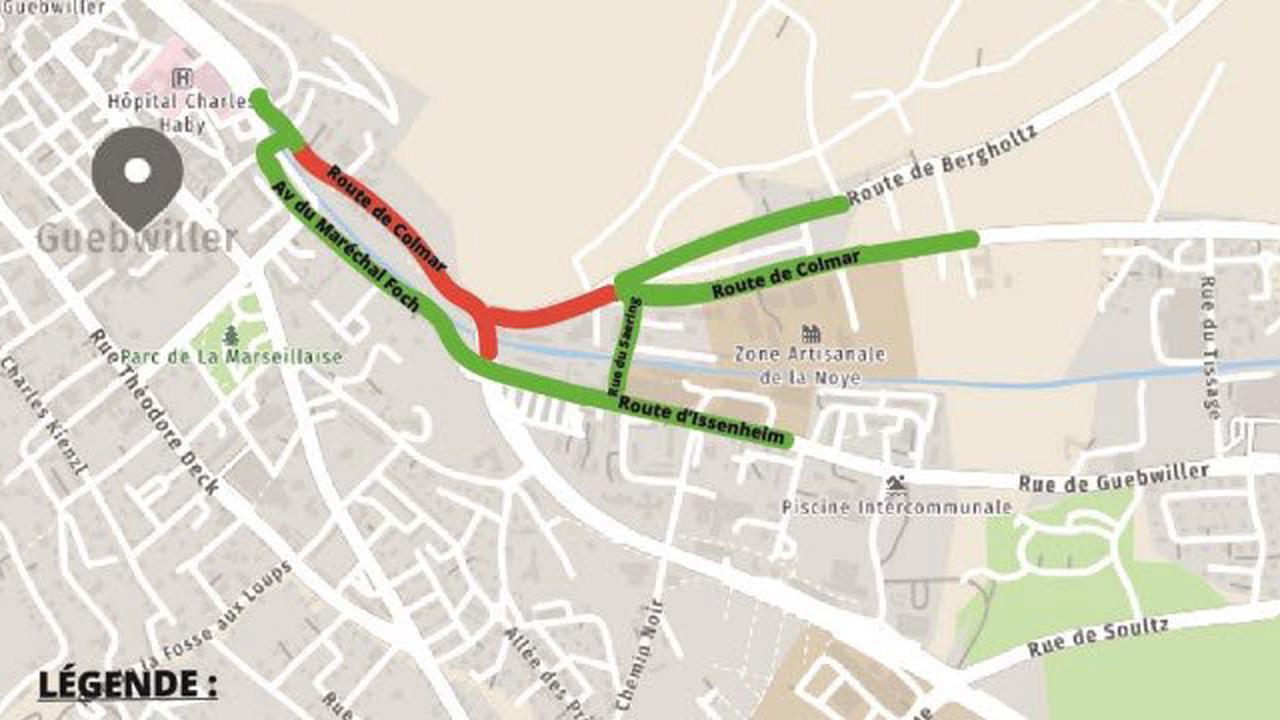 Transports. [Carte] Circulation à Guebwiller : les travaux en cours et à venir