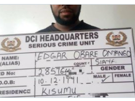 Edgar Obare Arrested By DCI Officers