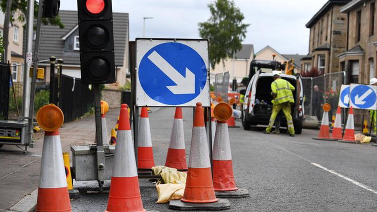 Falkirk district roadworks: Bonnybridge, Grangemouth and Larbert among areas affected