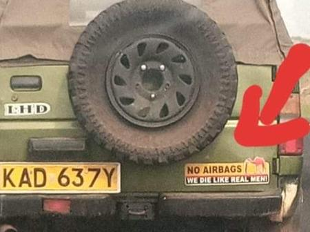 The Anonymous Sticker Spotted In a Vehicle That Has Elicited Mixed Reactions