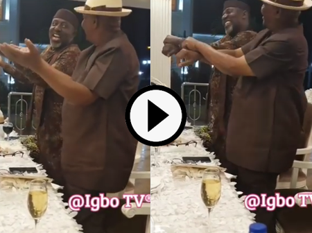 Who Danced Better Between Sen. Rochas And Gov. Wike As They Both Danced To Igbo Music In New Video?