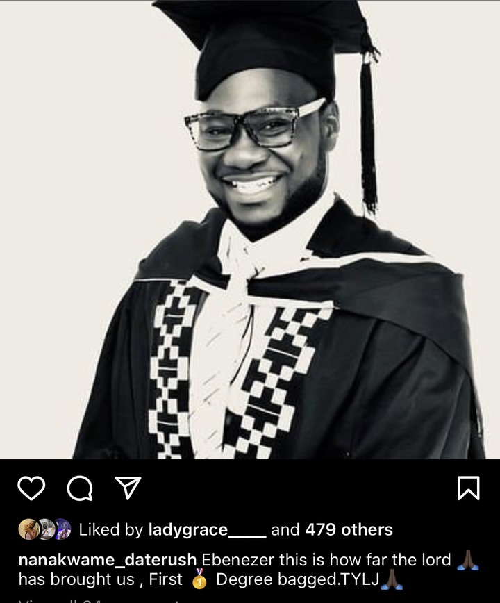 13bc8bba9a6d44b88385c676dee9be80?quality=uhq&resize=720 - Nana Kwame Of Date Rush Chosen By The American Lady Graduated With 1st Degree In Legon This Year