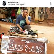 See How Actor Walter Anga Comes Into #ENDSARS Protest As His Fans React.