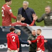 After Man-U Won, See What Ole Gunnar Did In Front Of Mourinho At Full Time That Is Causing Reactions