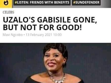 Opinion| Gabisile address her sad departure on Uzalo