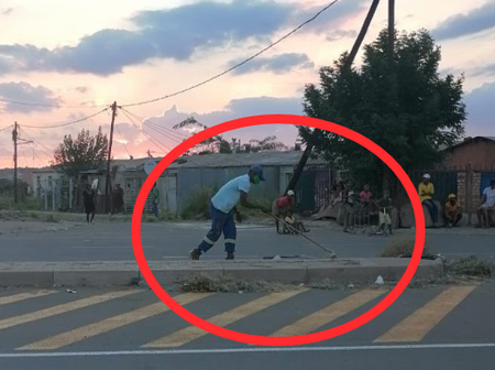 South Africans Laughed At a Man Who Was Cleaning and Sweeping the Messy Streets of Phaphameng