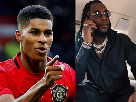 Footballer, Marcus Rashford Names Burna Boy As His Favorite Afrobeat Singer