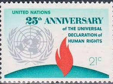 Top 6 stamps issued by the United Nations. One was issued to immortalise Kofi Annan.
