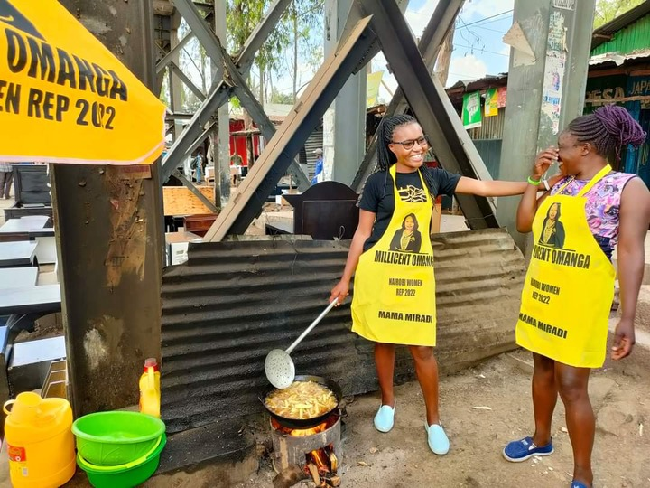 """Tuko.co.ke on Twitter: """"Gorgeous chips seller Bevalyne Kwamboka claims  Nominated Senator Millicent Omanga lied about giving her cash and stock for  her chips business. """"For clarification, team Millicent Omanga only bought  waru"""