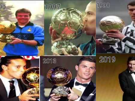 Ballon D' OR Winners From 1990 To 2020