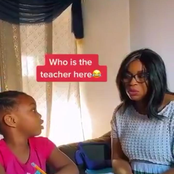 Watch Moment Little Girl Corrects Her Mother When She Pronounced A Word Wrongly (Video)