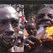 Meet The Man Who Claims To Be Lucifer And He Can Eat 100 Blades Per Day (Photos and Video)