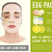 See how to use egg whites for bright skin.