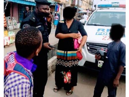 """""""Police Is Your Friend"""", See Photos of How A Police Officer Helped A Woman Recover Lost Money"""