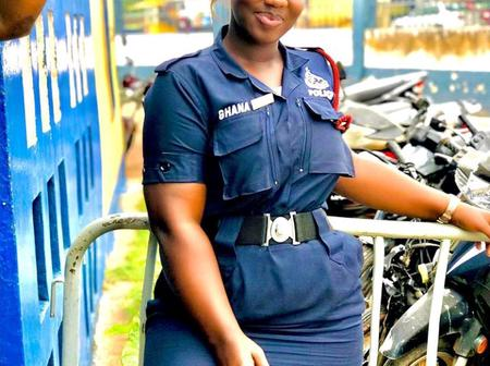 She Makes Out Time To Showcase Her Beauty Despite Being A Policewoman; See Photos Of Ama Serwaa