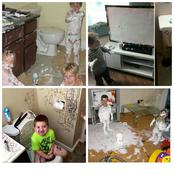 Why you should never leave your kids at home alone (Photos)