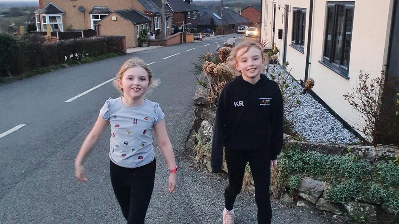 Fitbits spur on fundraising for young sisters