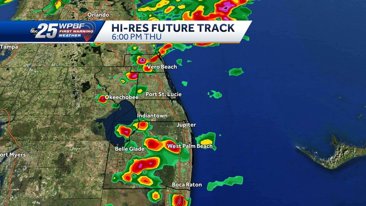 Strong to severe storms expected in Palm Beaches and Treasure Coast