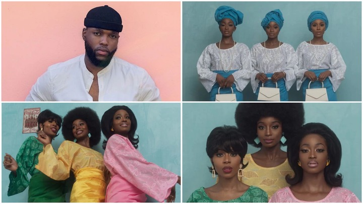 A collage of Oye Dian and the women he photographed. Photo sources: CNN/Oye Diran