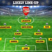 How Arsenal Could Lineup Against Slavia Prague On Thursday As They Eye Qualification To The Semis