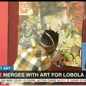 Culture merges with art for bride price.