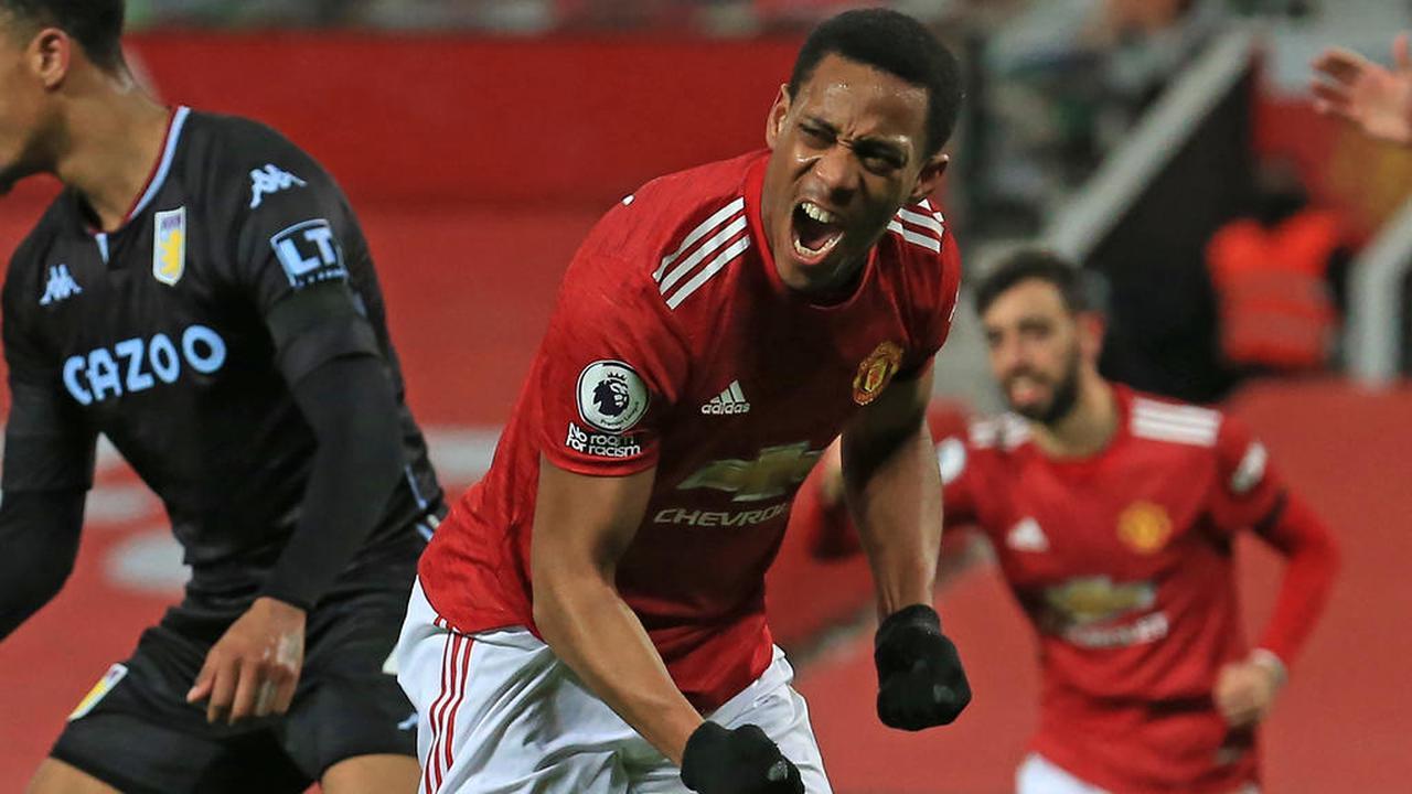 Premier League : Martial et Pogba décisifs contre Aston Villa, United rejoint Liverpool en tête
