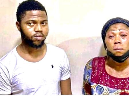 EFCC Arrests Mother And Son Over Online Fraud: Photo.
