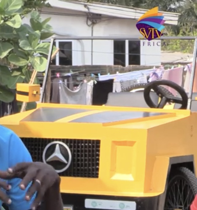 14f165711898439db6970ef4245b0a97?quality=uhq&resize=720 - 'Ghana Got Talent': JHS Leaver Builds Benz Car With A Paddle Which Has Caused Massive Stir