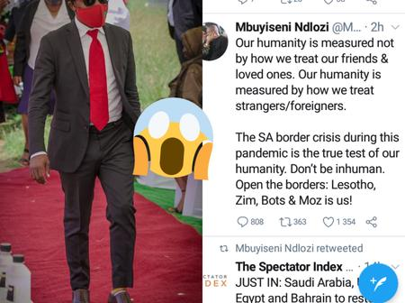 EFF Mbuyiseni Ndlozi attacked by twitter users after saying borders should be opened for foreigners