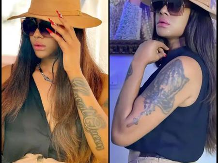 Check out reactions after actress Angela Okorie flaunted her tattoos in new photos.