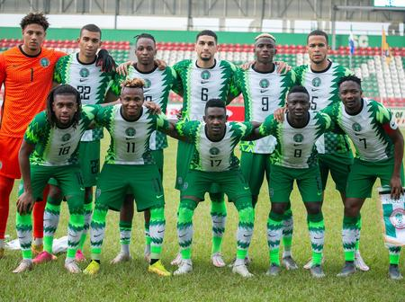 Super Eagles set for the AFCON qualifiers.