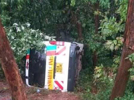 Sad as nissan gets an accident at Nyaramba along Kisii-Kericho highway