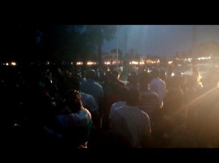 Protest at UNIBEN Maingate over Exam timetable irregularities