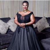 Mangcobo from Uzalo caused commotion on social media with her beautiful dress looking dazzling.